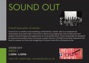 Preston: Sound out voice workshop weekly sessions