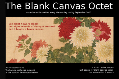 50:50 Online project present The Blank Canvas Octet Live on Zoom September 2020