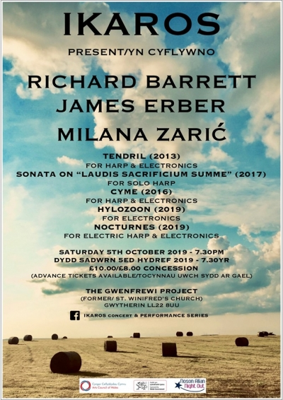 Ikaros present Richard Barrett, James Erber and Milana Zaric 06.10.2019