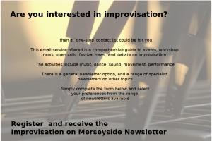 Improvisation on Merseyside newsletter