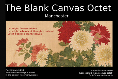 The Blank Canvas Octet - Manchester rehearsal # 9 March 2020