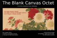 50-50 online project presents the Blank Canvas Octet live on zoom February 2021