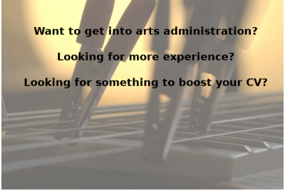 Want to get into arts administration?